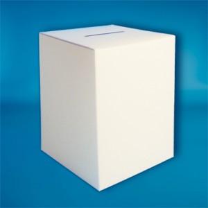 Einwurfbox - Quader weiss