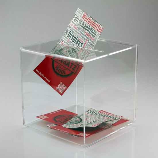 Transparente Acryl Einwurfbox