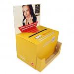 Einwurfbox mit Spender für DIN Lang Karten