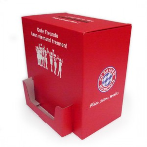 Große Umfragebox mit Spender