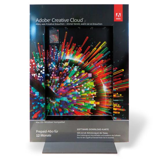 Adobe Messedisplay mit Eurolochhaken