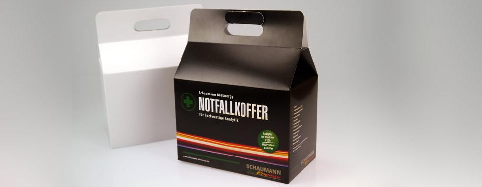 Koffer-Faltschachtel aus Karton