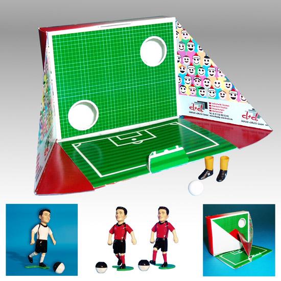Tipp Kick Fussballtor als Mailing