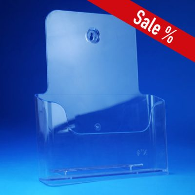Transparenter A4-Prospektständer zum Hängen und Aufstellen
