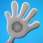 Klatschhand für Applaus bei Sportveranstaltungen mit beidseitiger Druckfläche