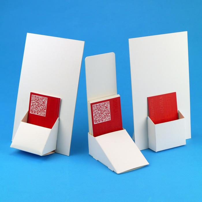 Visitenkartenhalter Aus Karton Mit Werbeschild Display Druck